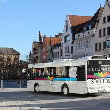 Der Stadtbus in Pfaffenhofen.