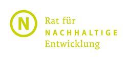 """Das Logo zeigt ein großes grünes N mit einem Kreis und dem Schriftzug """"Rat für nachhaltige Entwicklung"""""""