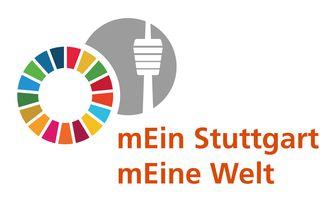 """Das Logo des Bündnisses """"mEin Stuttgart – mEine Welt"""" in Anlehnung an die 17 SDGs."""