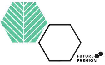 Das Logo von FutureFashion zeigt zwei Sechsecke. Eins davon soll ein Blatt darstellen.