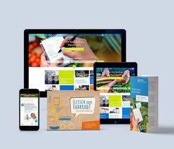 Eine Zusammenstellung der Website von nachhaltiger Warenkorb.
