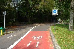 Fahrradstraße am Giebelbach in Lindau.