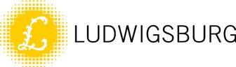 Das Logo der Stadt Ludwigsburg zeigt ein großes geschwungenes L vor gelbem Hintergrund und dem Schriftzug Ludwigsburg