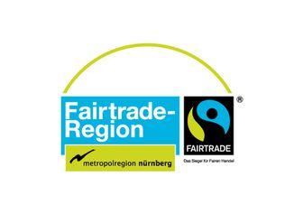 """Das Logo der Fairtrade-Region """"Europäische Metroploregion Nürnberg""""."""
