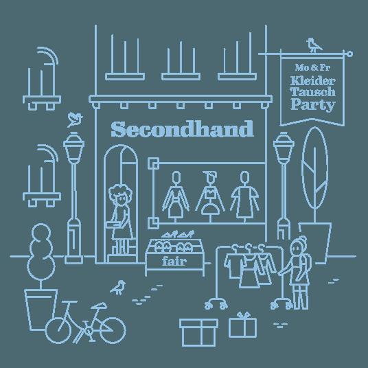 Secondhand-Geschäft für Kleidung