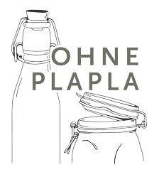 Schriftzug und Konturen eines Glases und einer Mehrwegflasche
